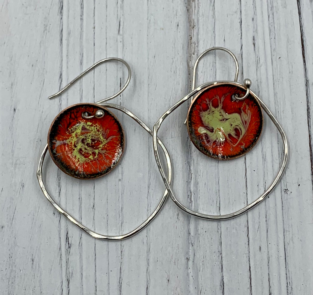 Red and Yellow Enamel in Orbit