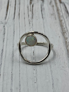 Olivia Ring with Mosaic Opal Ring