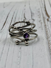 Load image into Gallery viewer, Silver Twig with Amethyst