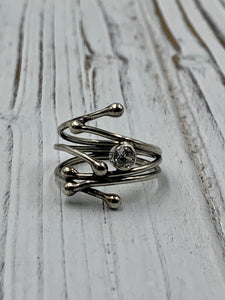 Silver Twig with CZ