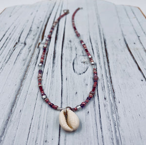 Cowrie Shell necklace Beaded