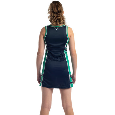 Gazelles Netball Club sublimated netball dress by Valour Sport - back view