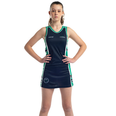 Gazelles Netball Club sublimated netball dress by Valour Sport - front view