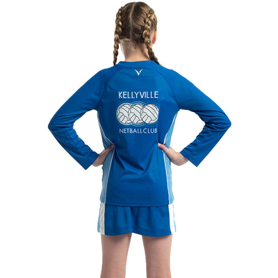 Kellyville Netball Club Long Sleeve Tee by Valour Sport - back view
