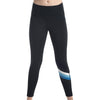 Kellyville Netball Club Black 7/8 Compression Tights by Valour Sport – front view