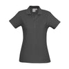 The perfect classic polo for your ladies crew - the Biz Collection Ladies Crew Polo in Charcoal