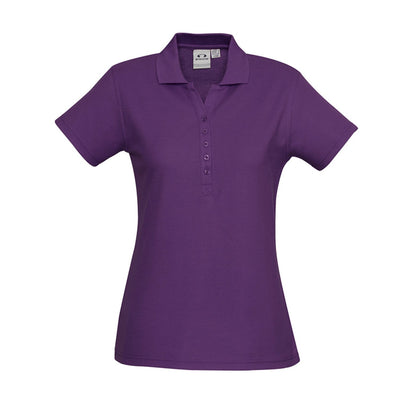 The perfect classic polo for your ladies crew - the Biz Collection Ladies Crew Polo in Purple