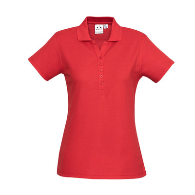 The perfect classic polo for your ladies crew - the Biz Collection Ladies Crew Polo in Red