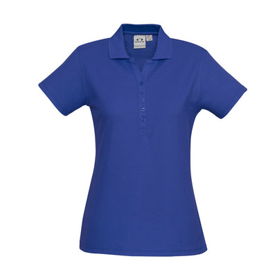 The perfect classic polo for your ladies crew - the Biz Collection Ladies Crew Polo in Royal Blue