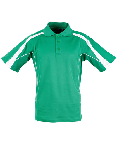 Legend Mens Polo in Emerald Green with White highlights