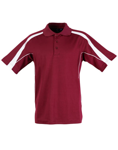 Legend Kids Polo in Maroon with White highlights