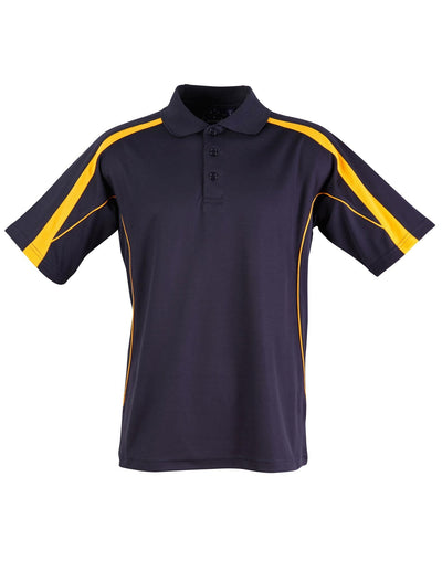 Legend Mens Polo in Navy with Gold highlights