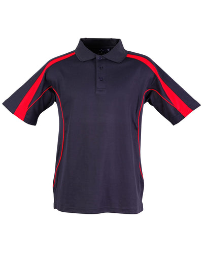 Legend Mens Polo in Navy with Red highlights