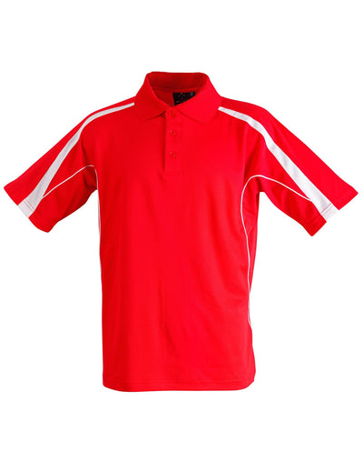 Legend Kids Polo in Red with White highlights