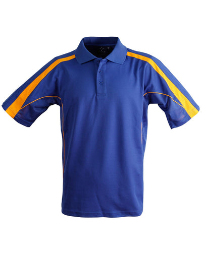 Legend Mens Polo in Royal Blue with Gold highlights