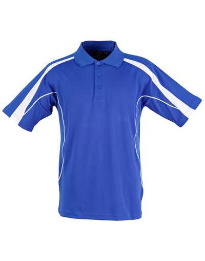 Legend Mens Polo in Royal Blue with White highlights