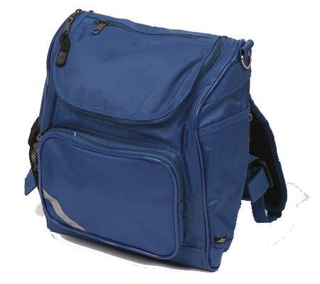 Omnipak is a high performance, ergonomic backpack that includes a padded laptop pocket, zipped compartments and drink bottle holder - Royal Blue