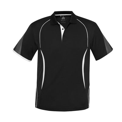 Kids Razor Polo in black with white detailing