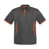 Kids Razor Polo in grey with fluro orange detailing