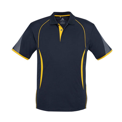 Kids Razor Polo in navy with gold detailing