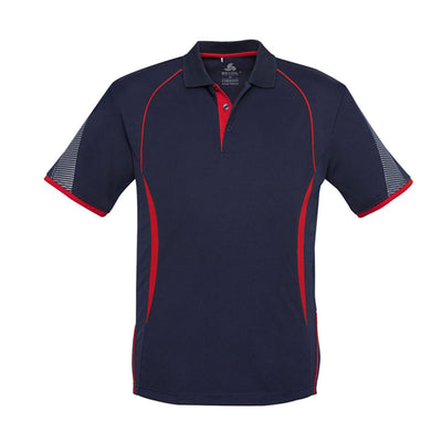 Kids Razor Polo in navy with red detailing