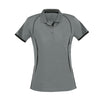 Ladies Razor Polo in grey with black detailing