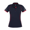 Ladies Razor Polo in navy with red detailing