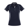Ladies Razor Polo in navy with white detailing