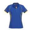 Ladies Razor Polo in royal with white detailing