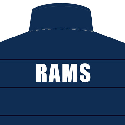 Rouse Hill RAMS Netball Club Puffa Vest - back logo zoom