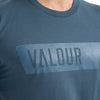 Valour Mens Panel Tee-Petrol blue
