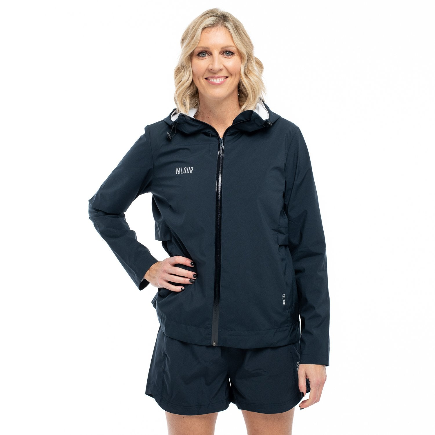 Valour Active Ladies Jacket-Navy