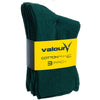 Valour Sport Cotton School Socks, sold in a 3-pack - Brunswick Green in packaging