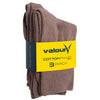 Valour Sport Cotton School Socks, sold in a 3-pack - Fawn in packaging