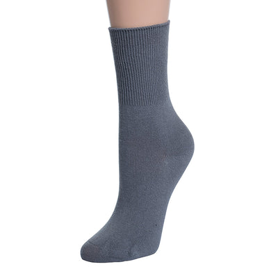 Valour Sport Cotton School Socks, sold in a 3-pack - Grey long sock