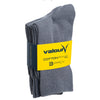 Valour Sport Cotton School Socks, sold in a 3-pack - Grey in packaging