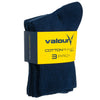 Valour Sport Cotton School Socks, sold in a 3-pack - Navy in packaging