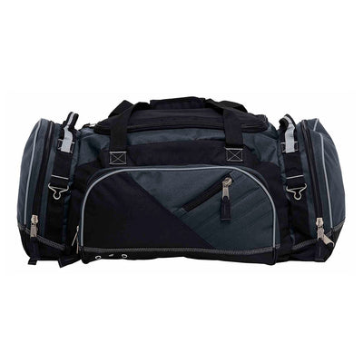 Recon is the ultimate sports kit bag that's constructed to endure the roughest conditions - black and charcoal reflective