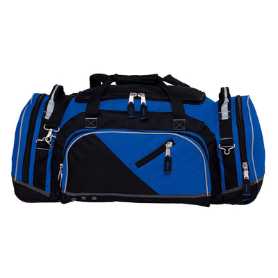 Recon is the ultimate sports kit bag that's constructed to endure the roughest conditions - black and royal blue