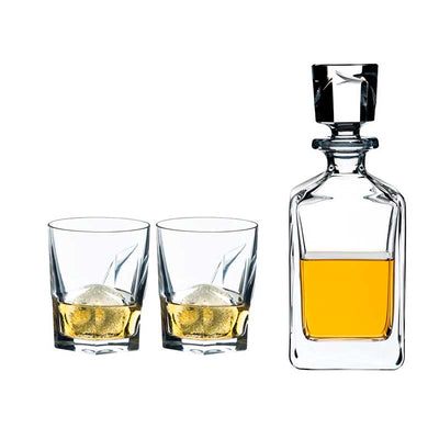 Riedel Whisky Set Louis (Botellon + 2 vasos) - vinosdelmundouy