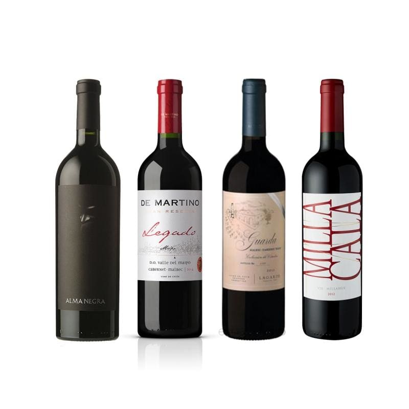 ¡imperdible! 4 Blends 30% Off - Vino Tinto