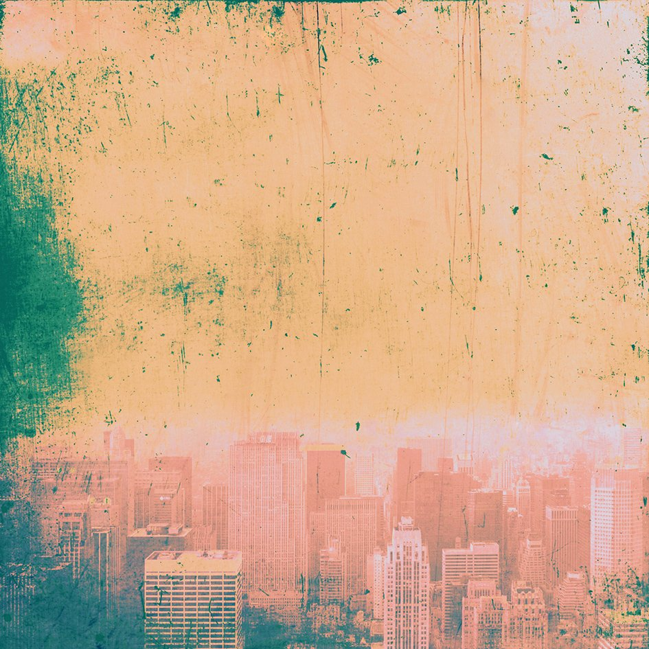 New York red blue green and gold - Fine art limited edition