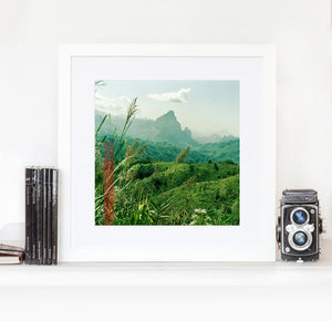 Laos mountain steps - Limited edition photographic giclee pint - Large print