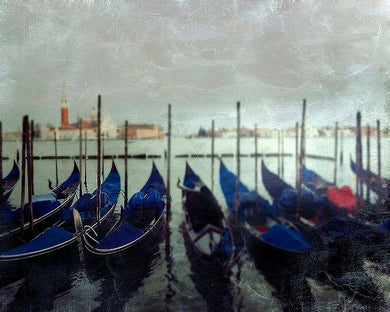 Gondolas at sunset - Limited Edition Fine Art
