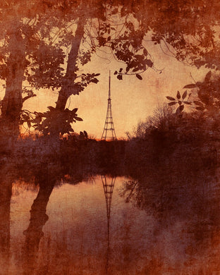 Crystal Palace transmitter reflection - Fine art photo print limited edition