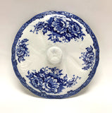 Blue/White Floral Antique Chamber Pot Lid