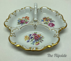 3 part German candy dish