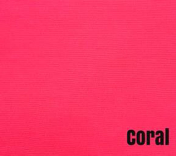 Coral (100% Quilting Cotton, Sold 1/4m Increments)