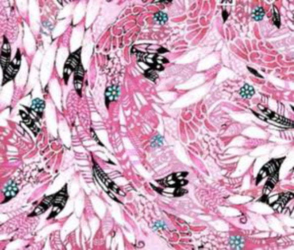 Fancy Flamingo Pink 27307 (100% Cotton. Sold 1/4m Increments)