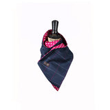 Tweed Scarf Navy and Pink